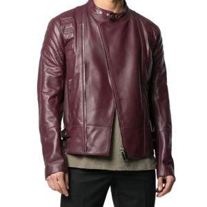 Marx Mens Slim Fit Leather Jacket