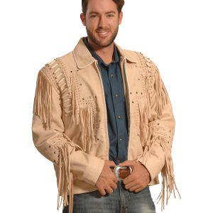 Mens Fringe Leather Jacket