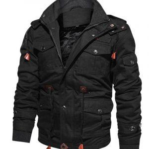 Mens Black Military Jacket