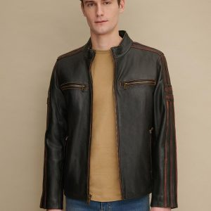 Antique Leather Cycle Jacket