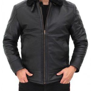 Black Shearling Jacket Mens