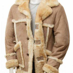 Mens Sheepskin Leather Coat