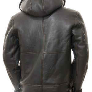Black Sheepskin Aviator Jacket Men's