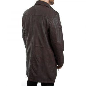 Men's Brown Leather Coat