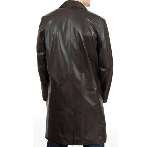 Men's Length Brown Coat