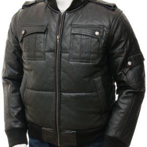 Black Bomber Hooded Jacket