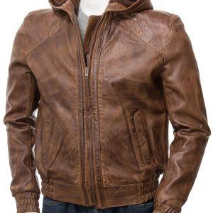 Brown Hooded Jacket