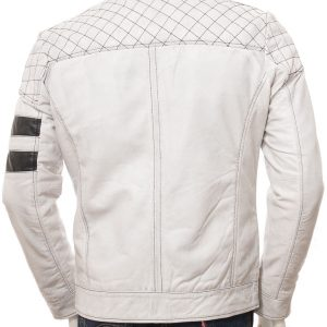 Men's White Quilted Jacket