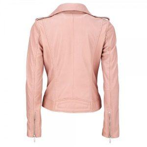 Womens Pink Biker Style Jacket